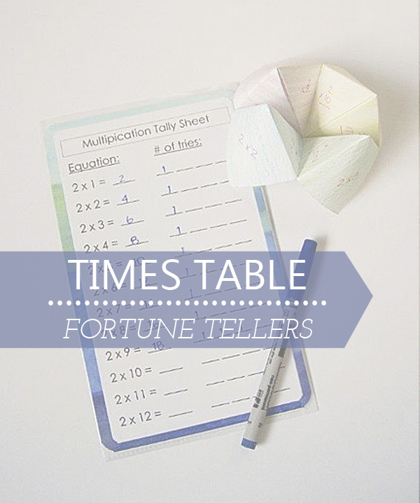 Times Table Fortune Tellers. Printable Tally Sheet included!