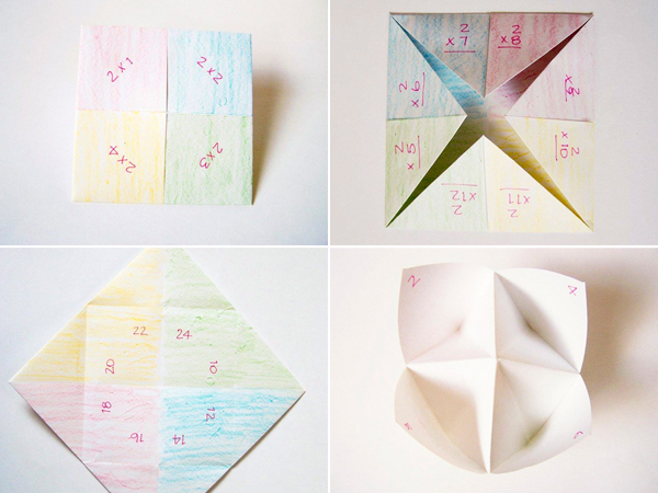 Times Table Fortune Tellers.