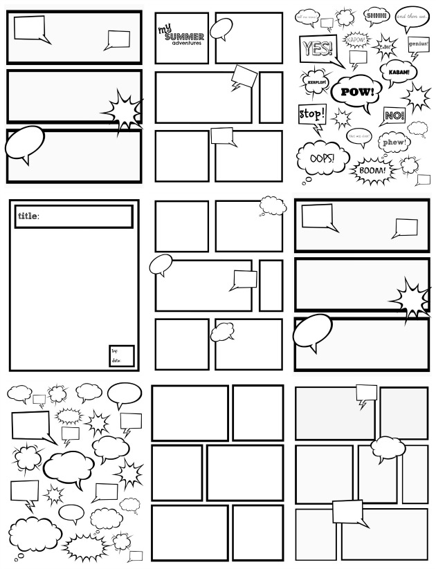 Comic Book Character Design Template : Raising a boy who loves to write playful learning
