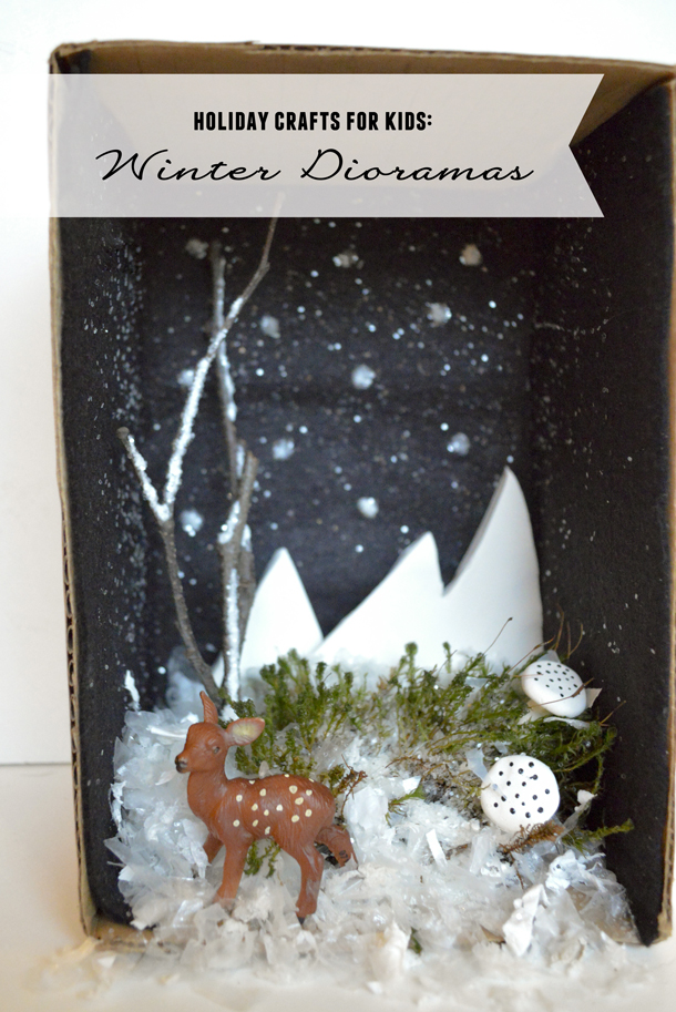 Holiday Crafts With Kids Winter Dioramas Playful Learning