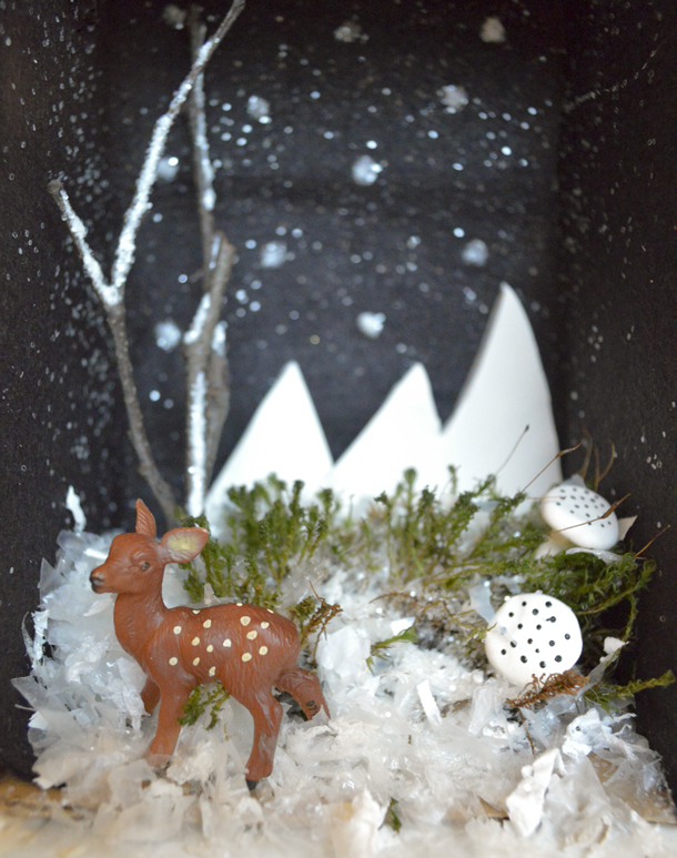 Christmas Shoebox Diorama.Holiday Crafts With Kids Winter Dioramas Playful Learning