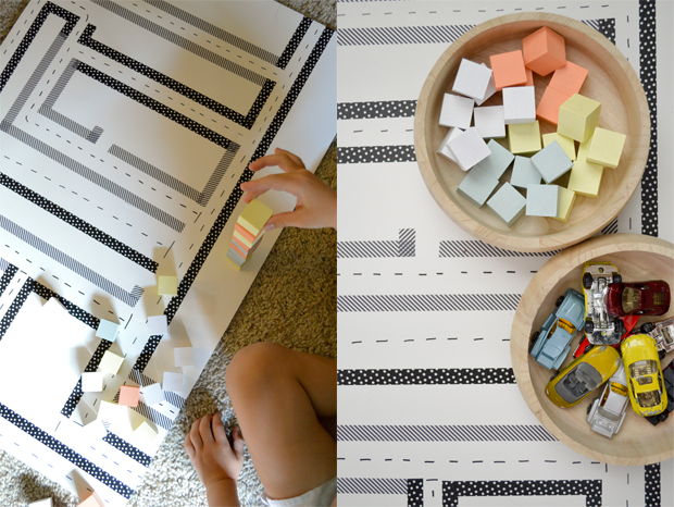Playful Learning: Handmade City Play Mat
