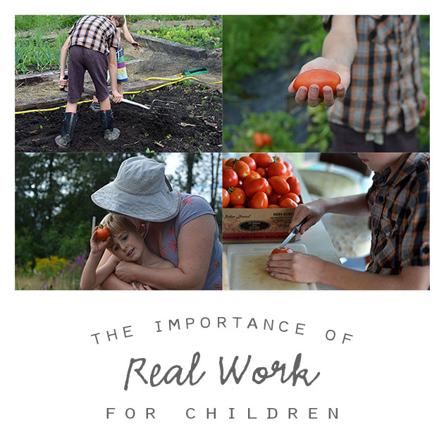 The Importance of Real Work for Children
