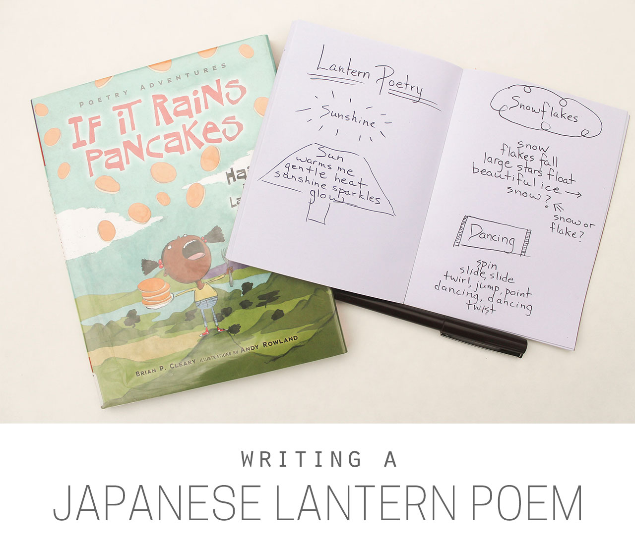 writing a japanese lantern poem