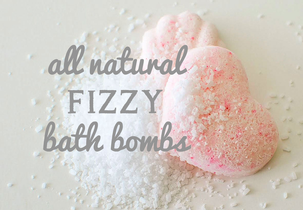 All Natural Fizzy Bath Bombs