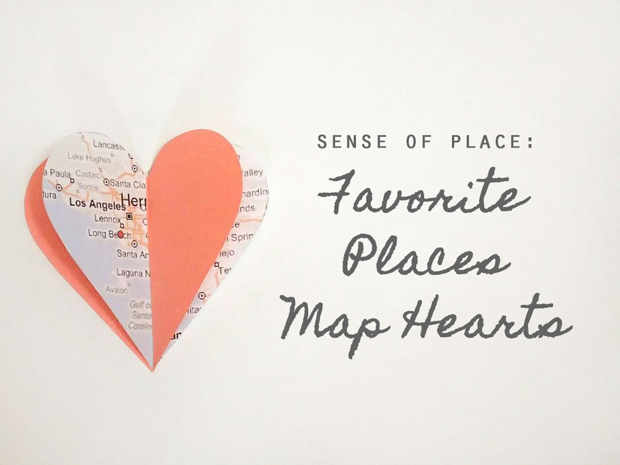 Favorite Places Map Hearts