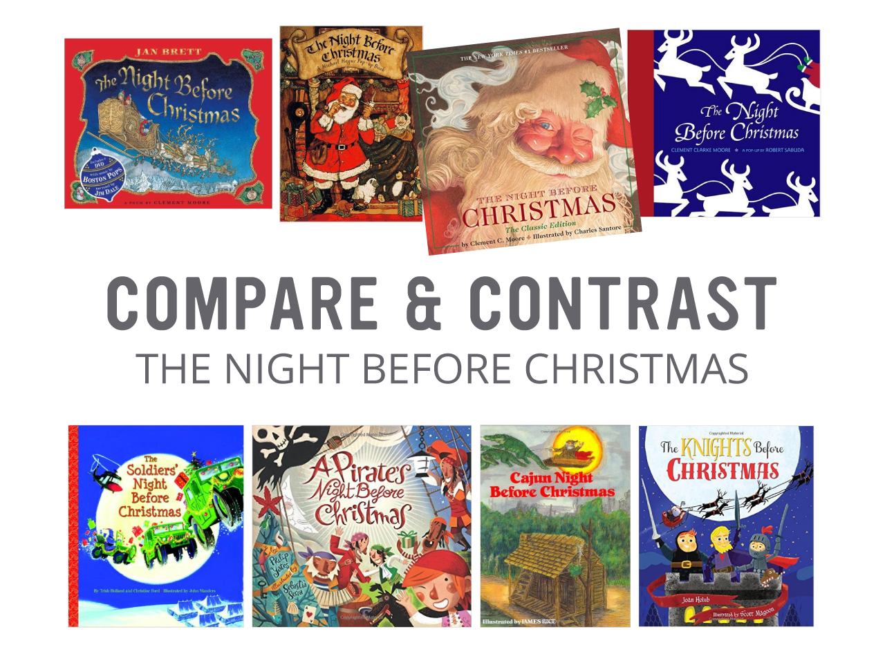 picture relating to Twas the Night Before Christmas Printable Book named Assess and Distinction: The Evening Ahead of Xmas Playful