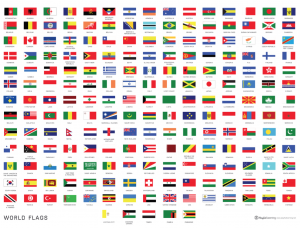 graphic relating to Printable Country Flags known as Studying the Global Throughout Flags Playful Discovering