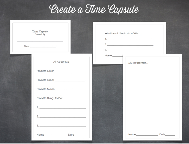 graphic regarding Time Capsule Printable titled Catch the Yr with a Year Capsule + Printables Playful